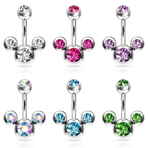 Triple Bubble Belly Ring