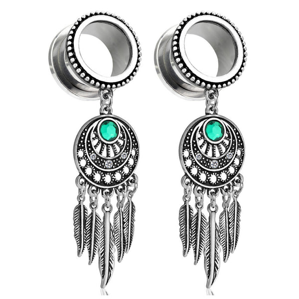 PAIR of dream catcher dangle plugs