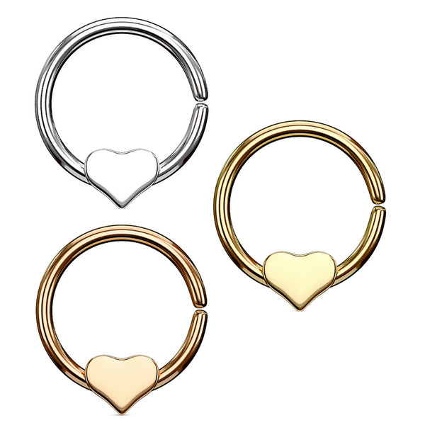 Annealed septum ring with Removable Heart