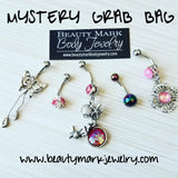 5 piece mystery belly ring grab bag from beauty mark body jewelry
