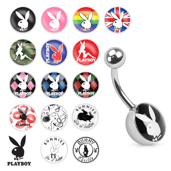 Playboy Bunny Logo Non-Dangle Belly Ring