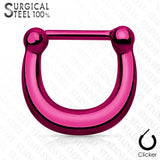 Basic Plain Surgical Steel Hinged Septum Ring