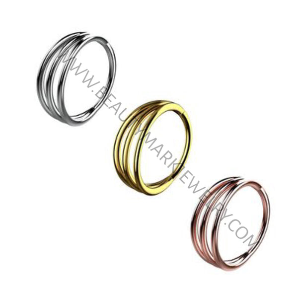 Triple Bar Hinged Segment Ring