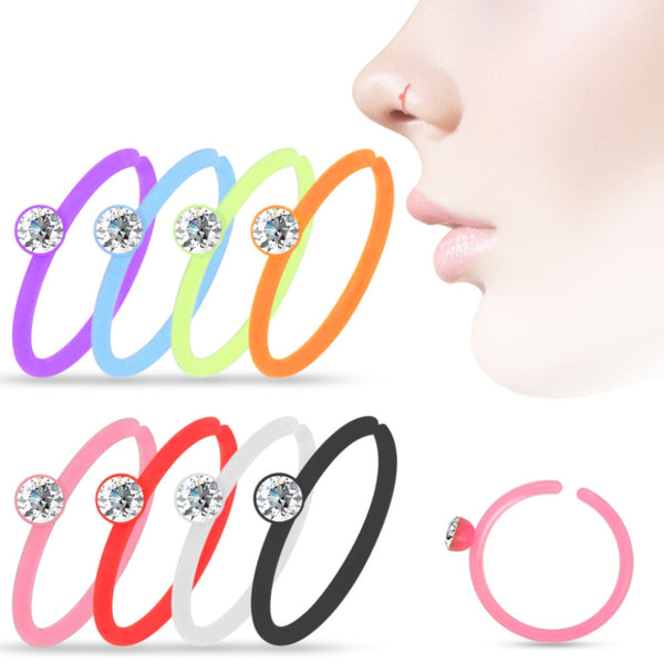 8 piece nose hoop acrylic value pack