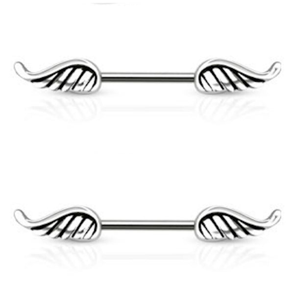 PAIR Angel Wing Nipple Rings 14g