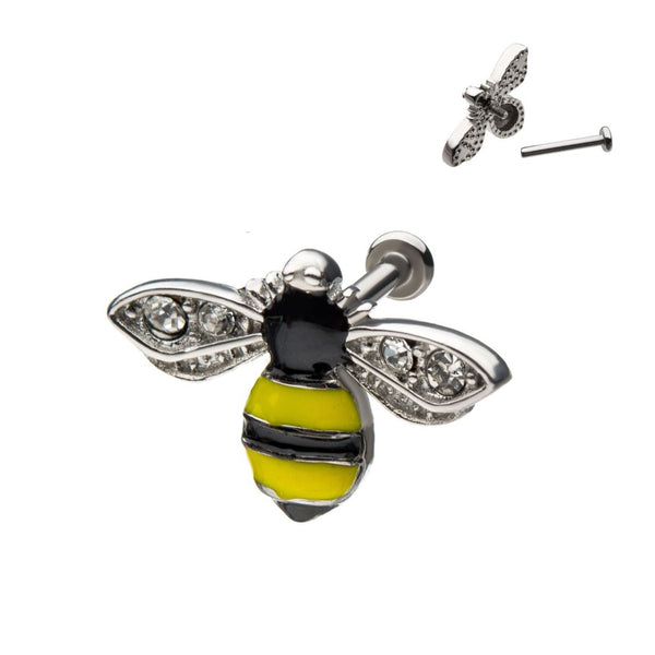 Bumble Bee Internally Threaded Lip Ring