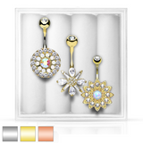 3-Pack Belly Ring Assortment #5