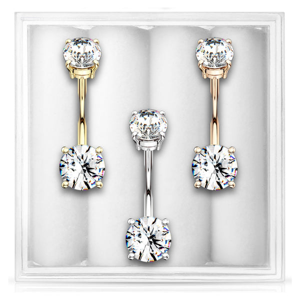 3-Pack Belly Ring Assortment #8