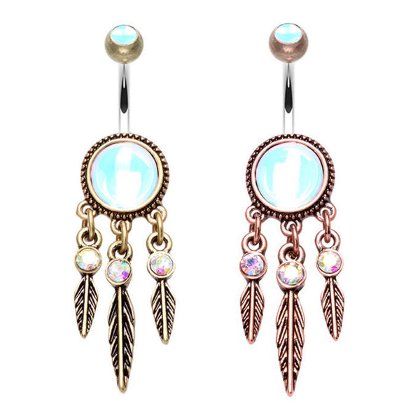 Antique Dream Catcher Belly Button Ring