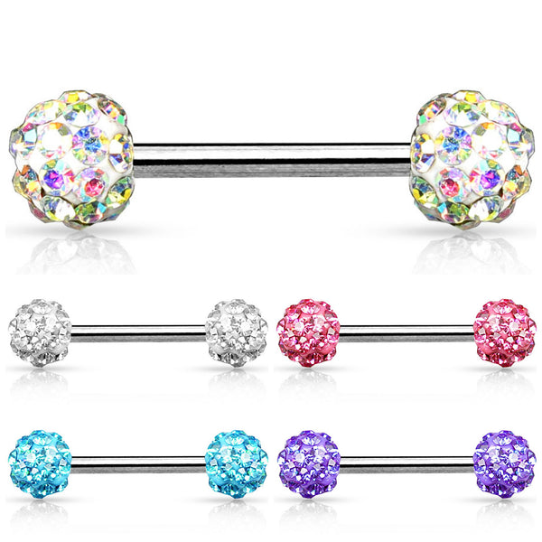 multi crystal ferido nipple rings