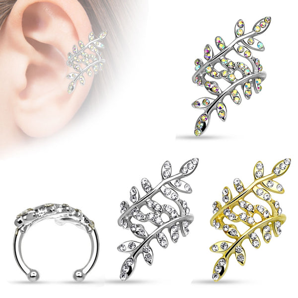 35180c900 Leaflet Non-Piercing Ear Cuff. $7.99. QUICK VIEW. flying dragon design ear  cuff with chain linked ear stud