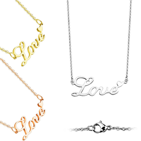 Love Pendant Heart Necklace