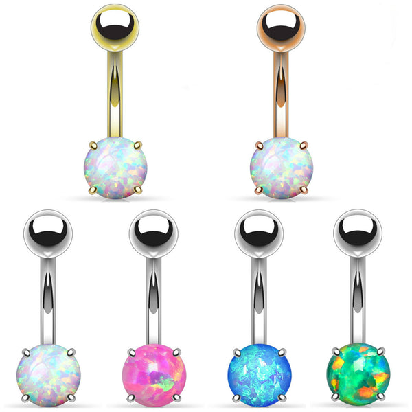 Basic Opal Non-Dangle Belly Button Ring