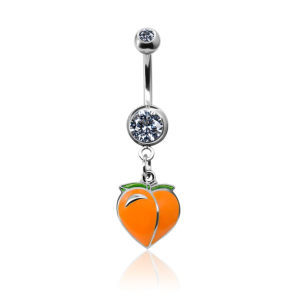 Peach Dangle Belly Ring