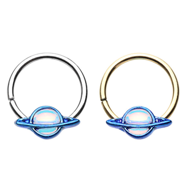 Planet galaxy bendable hoop ring