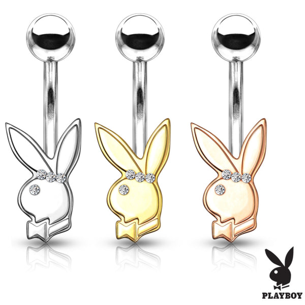 Playboy Bunny Non-Dangle Belly Button Ring