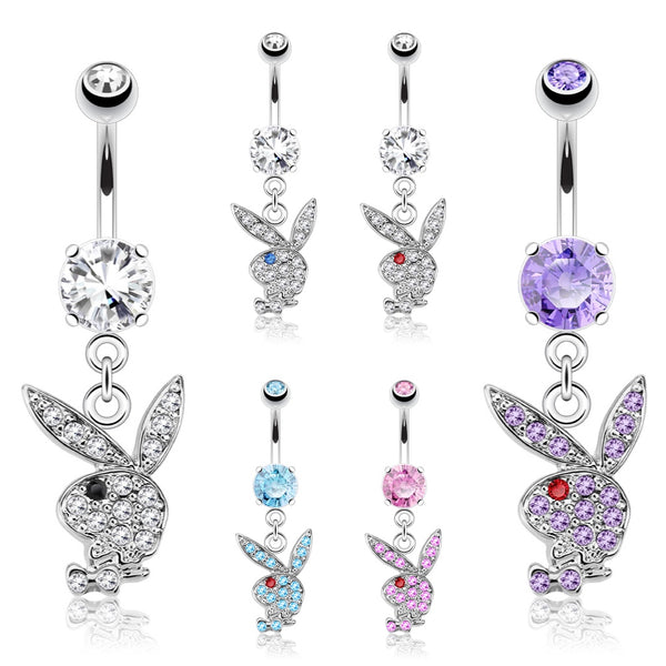 Playboy Bunny Dangle Belly Ring