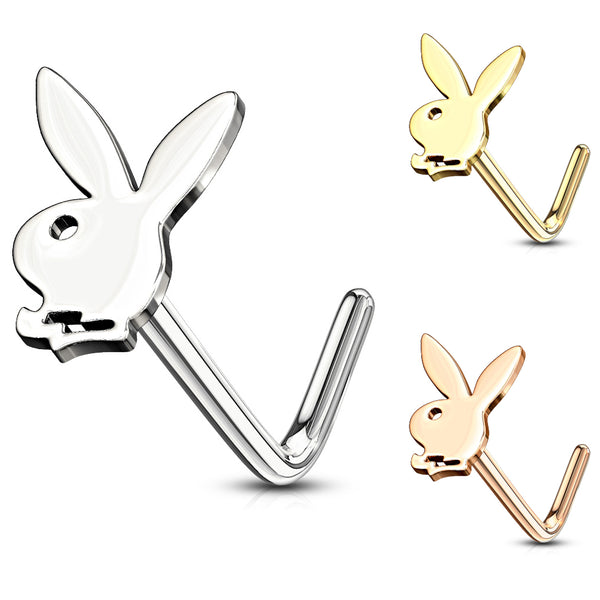 Playboy Bunny Top L-Bend Nose Ring