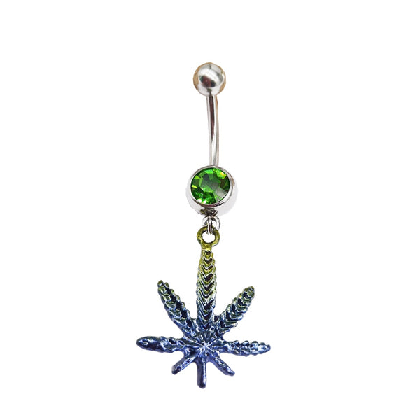 Ombre Pot Leaf Belly Ring