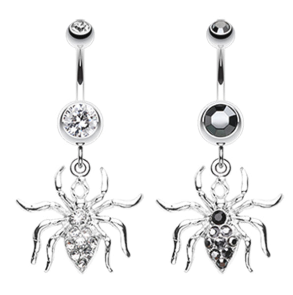 Black Widow Spider Belly Button Ring