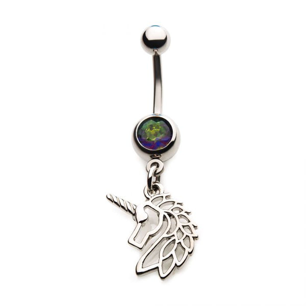 Unicorn Dangle Belly Ring