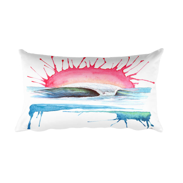 Coral Blast Rectangular Pillow