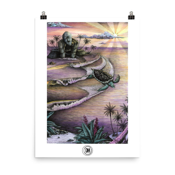 Flying Turtles Poster