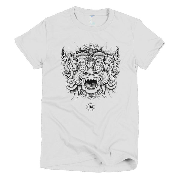 Balinese Mask  //  Short sleeve women's t-shirt