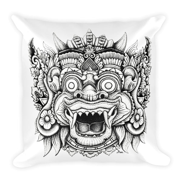 Balinese Mask Square Pillow