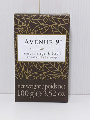 Avenue 9 Scented Bath Soap-Lemon, Sage, and Basil
