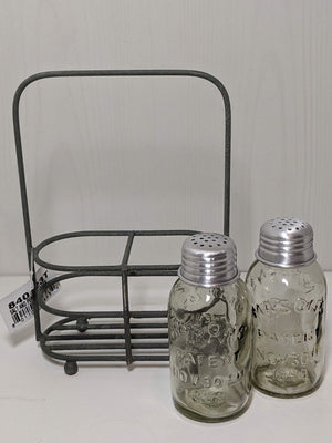 CTW Salt and Pepper Carrier With Mini Mason Jars