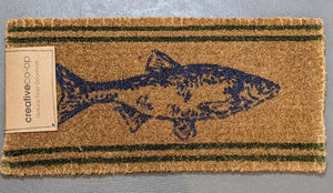 Creative Co-op Fish Door Mat