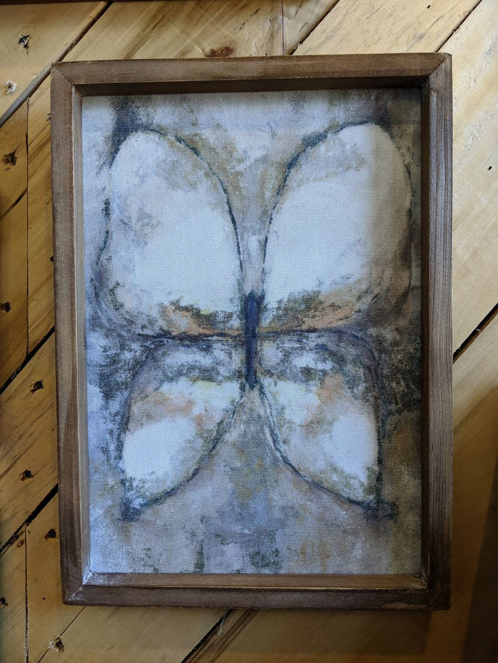 Creative Co-op Wood Framed Butterfly Wall Decor