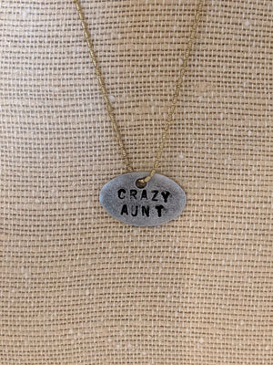 Embellish Copper and Metal Crazy Aunt Necklace