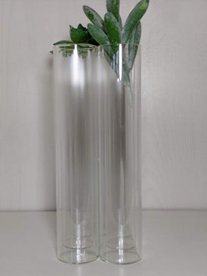 Glass Connected Bud Vase Eight Tubes
