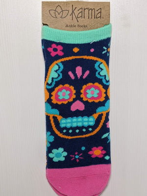 Karma Ankle Socks Sugar Skull