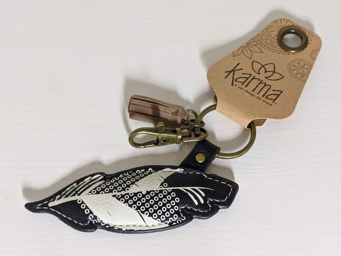 Karma Explore Feather Keychain