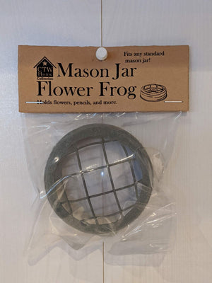 Mason Jar Flower Frog Lid Barn Roof