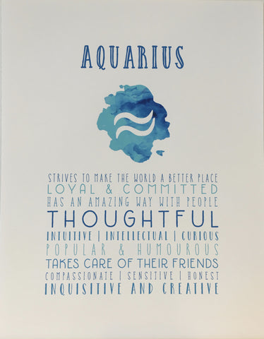 Aquarius Watercolour Print