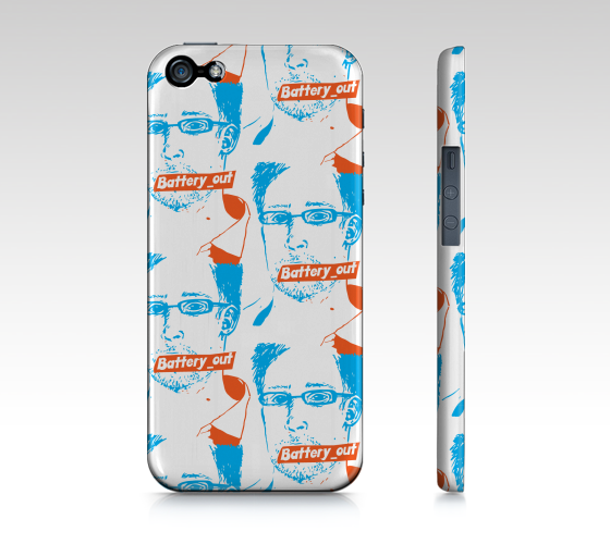 iPhone Case 5 / 5S |  Snowden by Monsieur Clown - Monsieur Clown