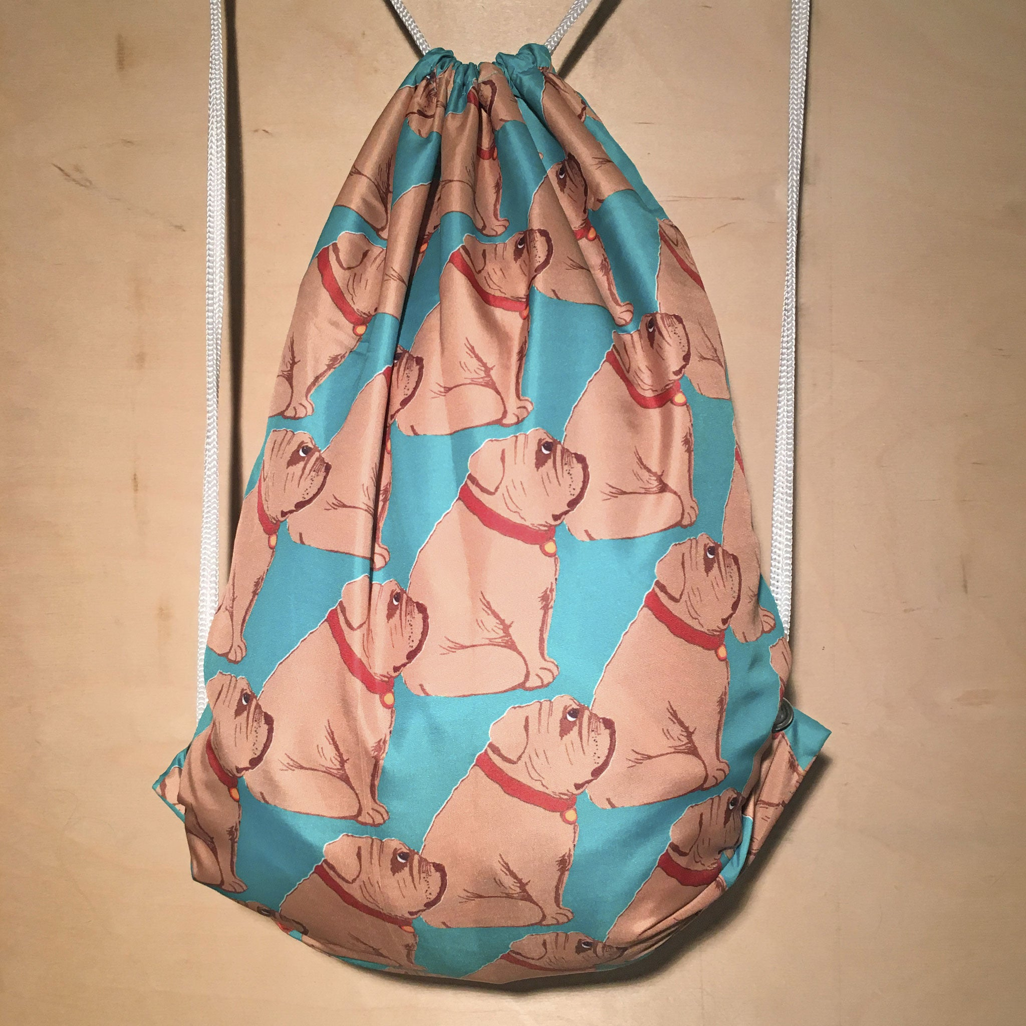 Drawstring Bag | Bulldog by Monsieur Clown
