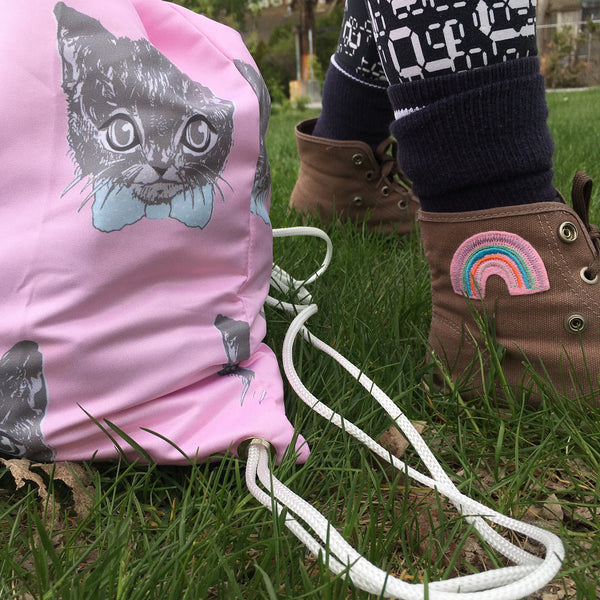 Drawstring Bag | Monsieur Cat by Monsieur Clown - Monsieur Clown - 1