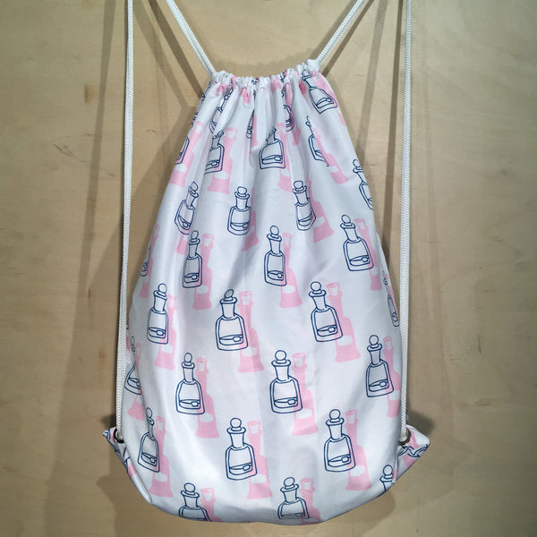 Drawstring Bag | Bottles by Monsieur Clown - Monsieur Clown - 1