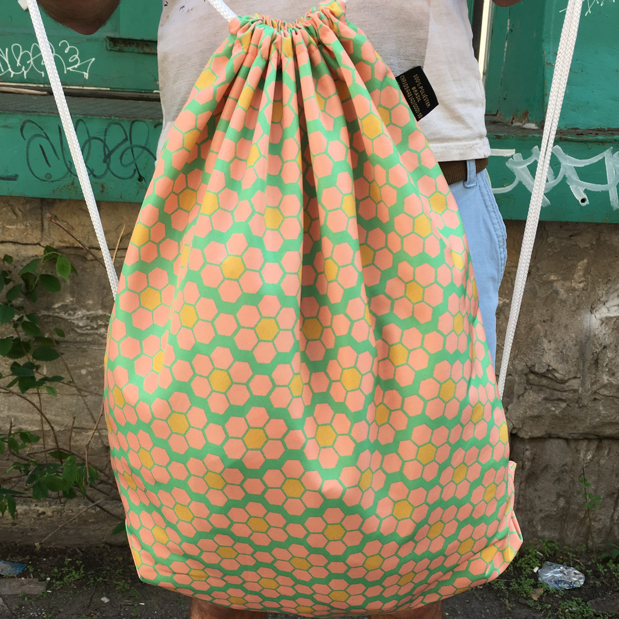 Drawstring Bag | Hive Flower by Monsieur Clown - Monsieur Clown - 1