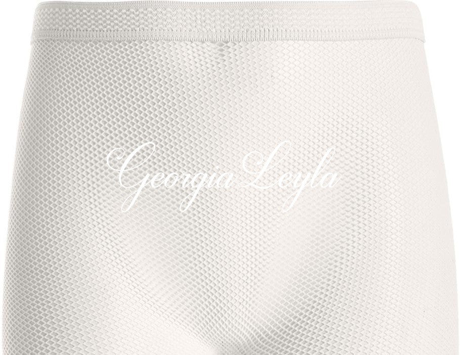 Mini Me Crystals White or Pink Fishnets - georgialeyla georgia leyla luxury crystal rhinestone sparkle stocking pantyhose tights dress dresses swarovski lingerie crystals