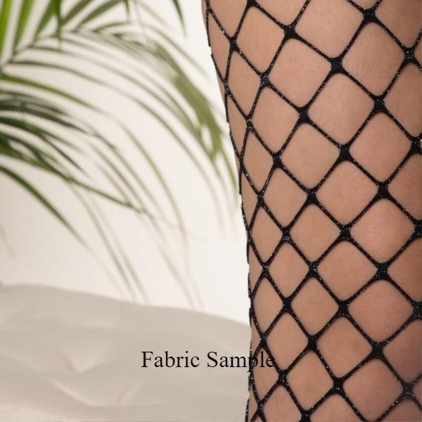 Lurex Sparkly Fishnet - 3 colors - With/out Crystals - georgialeyla georgia leyla luxury crystal rhinestone sparkle stocking pantyhose tights dress dresses swarovski lingerie crystals