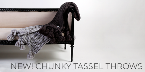 New! Chunky Tassel Throws