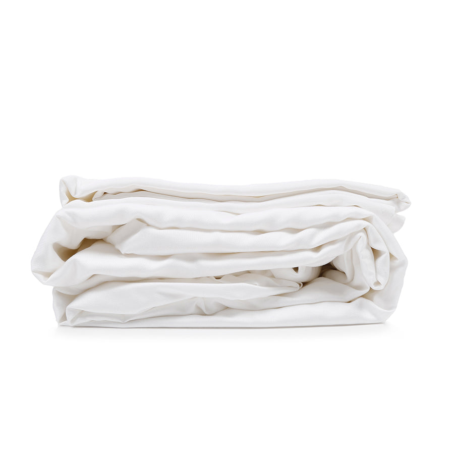 white bamboo queen sheet set
