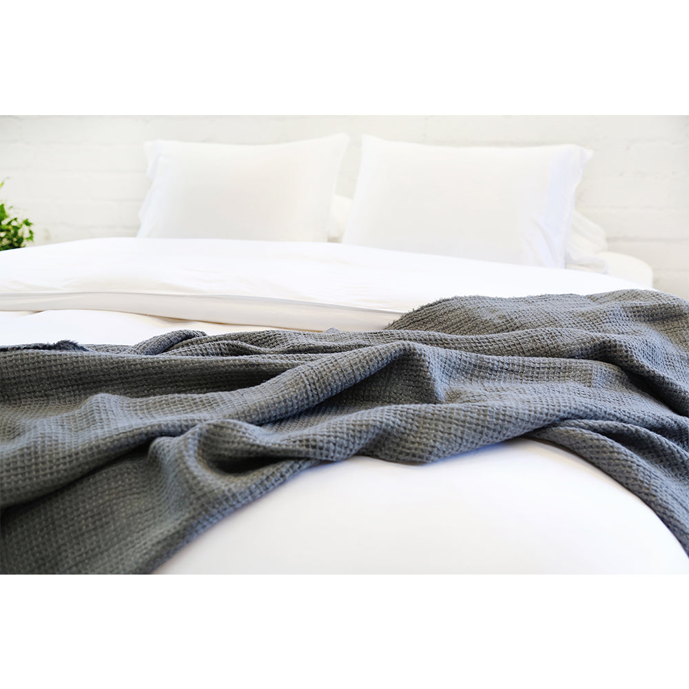 White Bamboo Duvet Cover with Shams