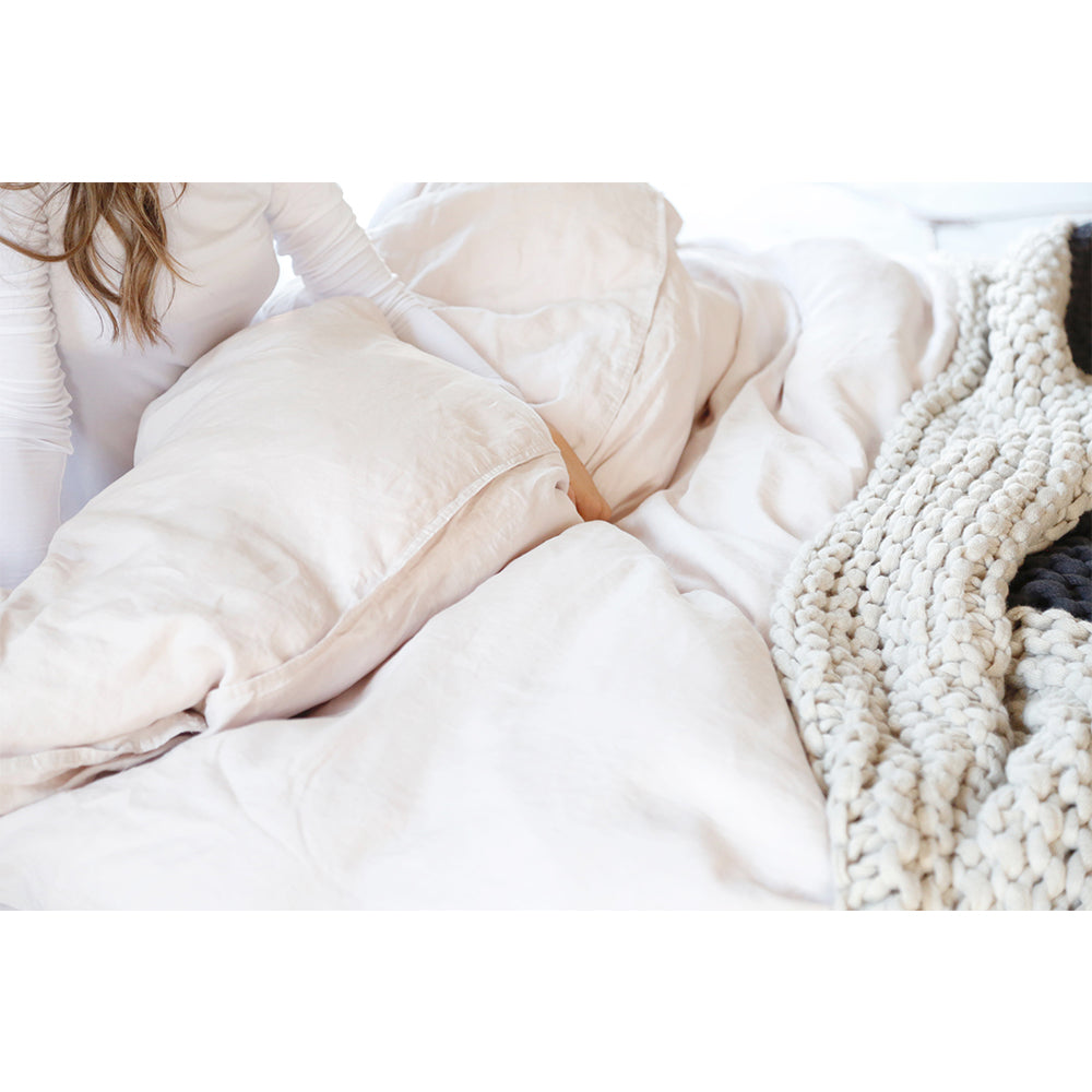 Linen  Duvet  + Pillow Shams - BLUSH